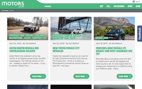 Screenshot of Press Page motors.co.uk - News | Car News - captured April 26, 2019