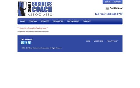 Screenshot of Login Page smallbusinesscoach.org - best  business | coach| coaching - captured Oct. 26, 2014