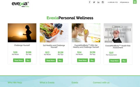 Screenshot of Signup Page evexia.ca - Evexia |Corporate Health & Wellness solutions| Wellness Portal - captured Sept. 30, 2018