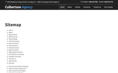 Screenshot of Site Map Page culbertsonagency.com - Sitemap | Culbertson Agency - captured Nov. 5, 2018