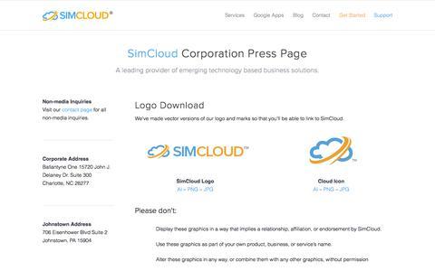 Screenshot of Press Page simcloud.com - Press Material - SimCloud - captured Oct. 6, 2014