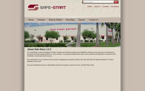 Screenshot of About Page safe-start.com - About Us   Safe Start - captured Sept. 30, 2014