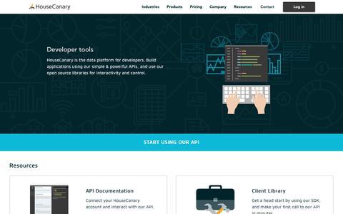 Screenshot of Developers Page housecanary.com - Real Estate Tools for Developers | HouseCanary - captured Sept. 10, 2017