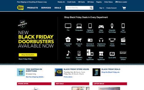 Screenshot of Home Page bestbuy.com captured Nov. 27, 2015