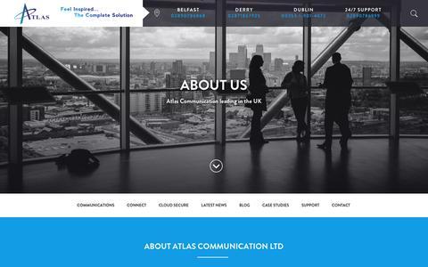 Screenshot of About Page atlas-comms.com - About Us - Atlas Communications Ltd - captured Nov. 21, 2016