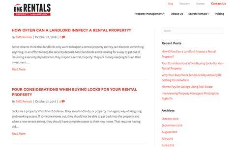 Screenshot of Blog bmgrent.com - Blog – BMG Rentals Property Management - captured Nov. 22, 2016