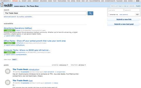 reddit.com: search results - The Trade Desk