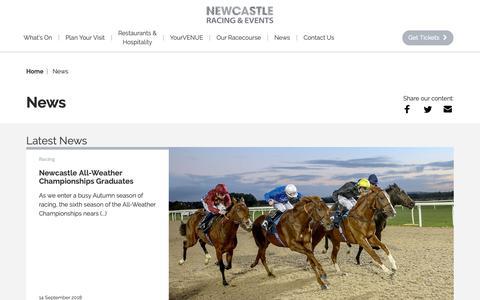 Screenshot of Press Page newcastle-racecourse.co.uk - News | Newcastle Racecourse - captured Oct. 20, 2018