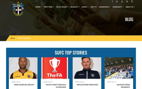 Screenshot of Press Page suttonunited.net - SUFC Club News - Sutton United Football Club - captured Oct. 18, 2018