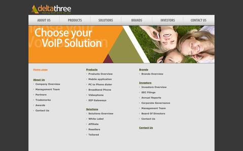 Screenshot of Site Map Page deltathree.com - Deltathree VoIP Provider - deltathree Site Map - captured Sept. 30, 2014