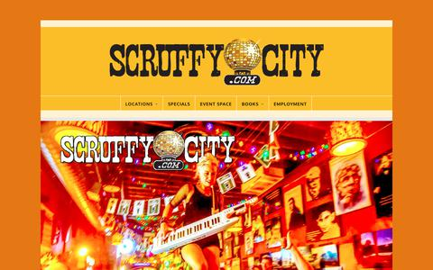 Screenshot of Home Page Locations Page scruffycity.com - Scruffy City – Your Downtown Destination - captured Oct. 31, 2018
