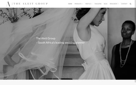 Screenshot of Home Page thealeitgroup.com - Cape Town Wedding Planner and Wedding Venue | The Aleit Group - captured Feb. 5, 2016