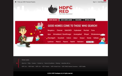 Screenshot of Home Page hdfcred.com - Property & Real Estate Listing Website in India - HDFC RED - captured Sept. 23, 2014