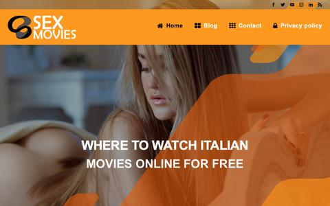 Screenshot of Home Page anpifesta.org - Where to watch Italian movies online for free - captured Nov. 28, 2018