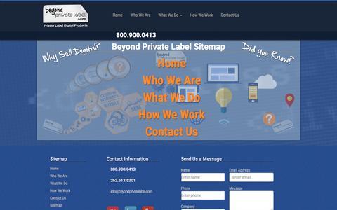 Screenshot of Site Map Page beyondprivatelabel.com - Beyond Private Label Č Sitemap - captured Jan. 2, 2016