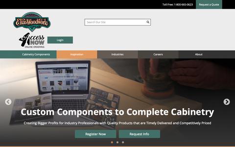 Screenshot of Home Page eliaswoodwork.com - Home - captured Feb. 14, 2019