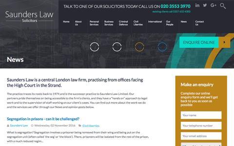 Screenshot of Press Page saunders.co.uk - Recent blog posts - - captured Nov. 19, 2016