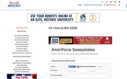 It's Time to Win $250! - AmeriForce Media
