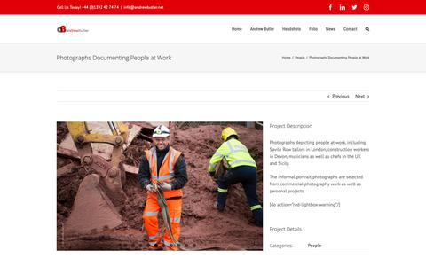 Screenshot of Team Page andrewbutler.net - Photographs Documenting People at Work - captured Oct. 22, 2018
