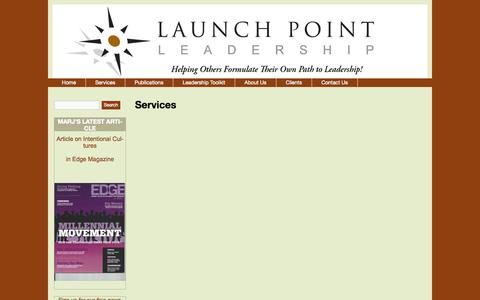 Screenshot of Services Page launchpointleadership.com - Services | LaunchPoint Leadership - captured Sept. 29, 2014