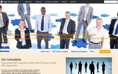 Screenshot of Services Page jaajitech.com - Services - captured Oct. 6, 2014