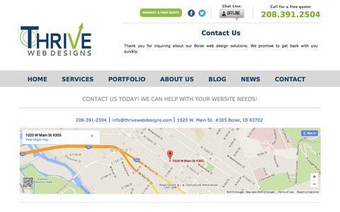 Contact Our Boise Web Design Team!