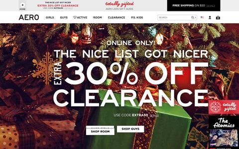 Screenshot of aeropostale.com - Guys & Girls Clothes, Hoodies, Graphic Tees & Jeans | Aeropostale - captured Dec. 3, 2015
