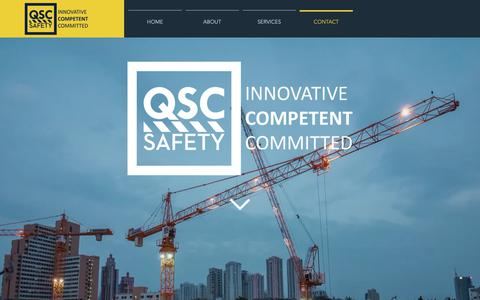 Screenshot of Contact Page qscsafety.com - QSC Safety | Contact - captured Nov. 10, 2018