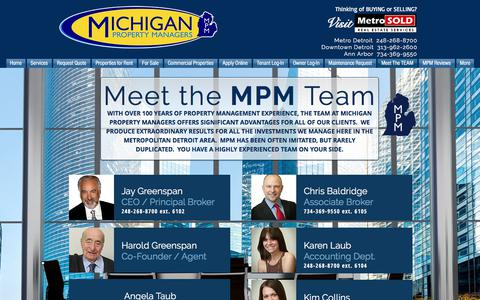 Screenshot of About Page michiganpropertymanagers.com - Michigan Property Managers | Metro Detroit's #1 Management Company | Meet The TEAM - captured July 22, 2018