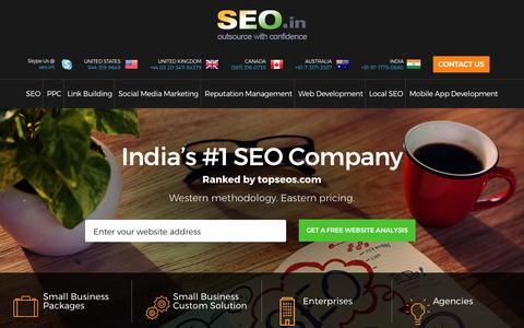 Screenshot of Home Page seo.in - SEO.in - Rated Number 1 Best SEO Company India, Search Engine Optimization India, Search Engine Optimisation India, SEO Company India, Outsource SEO, Link Building India, Reputation Management India - captured Oct. 14, 2017
