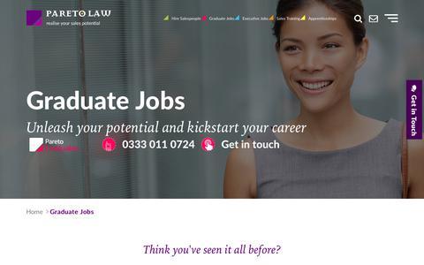 Graduate Jobs, Graduate Sales Recruitment | Pareto.co.uk