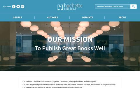 Screenshot of About Page hachettebookgroup.com - About Hachette Book Group | Hachette Book Group - captured Feb. 17, 2019