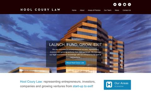 Screenshot of Home Page hoollawgroup.com - Hool Coury Law - captured Jan. 27, 2015
