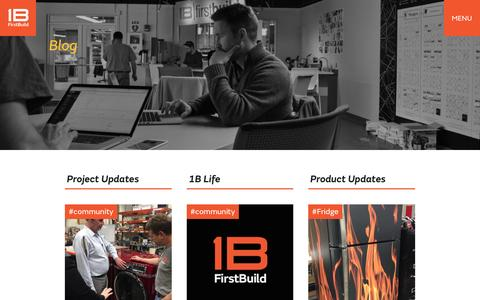 Screenshot of Blog firstbuild.com - Blog » FirstBuild - captured Oct. 29, 2016