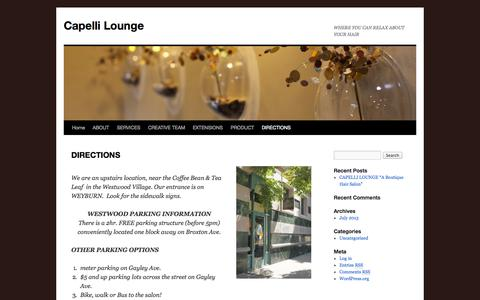 Screenshot of Maps & Directions Page capellilounge.com - DIRECTIONS | Capelli Lounge - captured Sept. 30, 2014