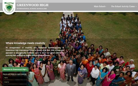 Screenshot of Home Page greenwoodhigh.edu.in - Greenwood High International School | Bangalore | Offers IB, IGCSE, ICSE & ISC curriculum - Home - captured Nov. 16, 2016