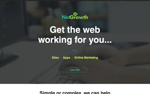 Screenshot of Home Page netgrowth.ca - Netgrowth - Web consulting, Websites, Apps, UX / UI design - captured Dec. 15, 2016