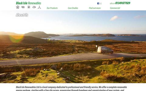 Screenshot of About Page blackislerenewables.co.uk - Black Isle Renewables - About Us - captured Oct. 5, 2014