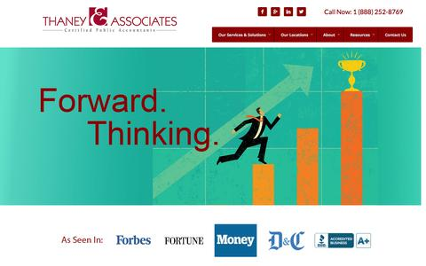 Screenshot of Home Page thaneycpa.com - Thaney & Associates | CPA's & Accountants | Rochester | Orlando - captured Oct. 4, 2014