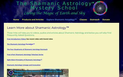 Screenshot of FAQ Page shamanicastrology.com - Learn More about Shamanic Astrology™ | Shamanic Astrology Mystery School - captured Oct. 18, 2018