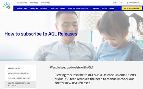 Subscribe to AGL Releases | AGL