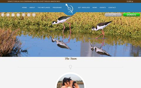 Screenshot of Team Page bolsachica.org - Bolsa Chica Conservancy | - captured Oct. 19, 2018