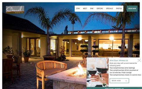 Screenshot of Home Page carmelmissioninn.com - Carmel Mission Inn CA - Boutique Hotel in Carmel California - captured Oct. 13, 2019