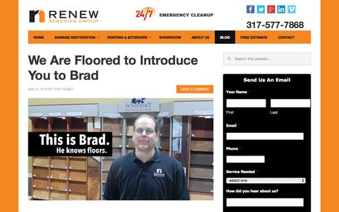 Screenshot of Blog renewservices.com - Blog - News, Tips and Updates | ReNew Services Inc. - captured Aug. 15, 2015