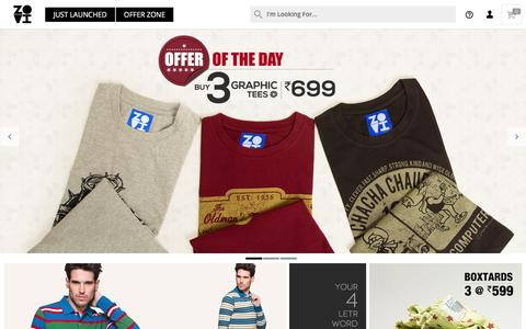 Screenshot of Home Page zovi.com - Online Shopping: Shop online for Mens Shirts, Mens Tees and more - Zovi.com - captured Nov. 29, 2015
