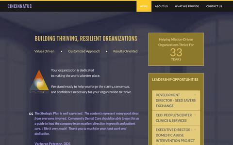Screenshot of Home Page cincinnatus.com - Cincinnatus - Home - captured July 18, 2018