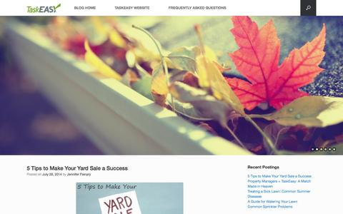 Screenshot of Blog taskeasy.com - TaskEasy's Blog - captured Oct. 22, 2014