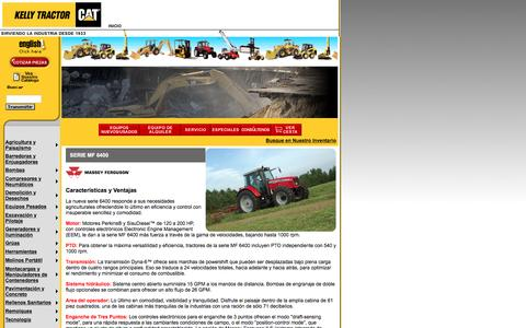 Screenshot of Landing Page kellytractor.com - Kelly Tractor Tractores de Rueda Massey Ferguson MF 6400 - captured Aug. 12, 2016