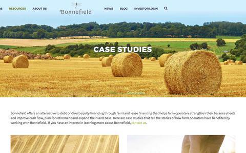 Screenshot of Case Studies Page bonnefield.com - Case Studies – Bonnefield - captured Oct. 10, 2017