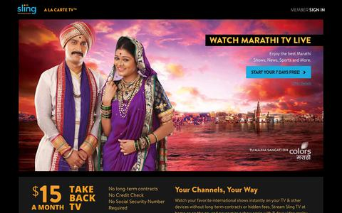 Sling TV - Watch Live Marathi Channels on the #1 Live International TV provider in the US